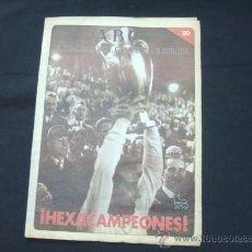 Coleccionismo deportivo: ABC - EL REAL MADRID CAMPEON DE EUROPA - FASCICULO Nº 20 - HEXACAMPEONES - . Lote 25087001