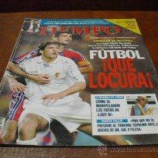 Coleccionismo deportivo: REVISTA : TIEMPO Nº 799 DE 25.8.1997.- FUTBOL ¡QUE LOCURA! (ENTREV. CON GENESIS, SADAM HUSSEIN). Lote 25189943