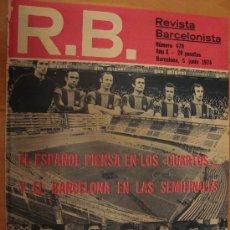 Coleccionismo deportivo: R.B. REVISTA BARCELONISTA Nº 479 MAYO 1974. Lote 25395940