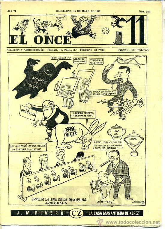 EL ONCE Nº 278 - 16 MAYO 1950 (Coleccionismo Deportivo - Revistas y Periódicos - otros Fútbol)