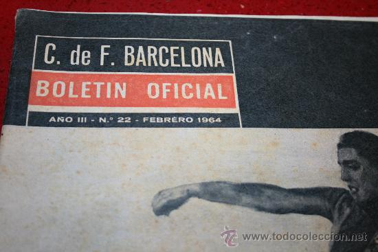 Coleccionismo deportivo: CLUB DE FUTBOL BARCELONA - BOLETIN OFICIAL - AÑO III - Nº 22 - FEBRERO 1964 - PAULINO ALCANTARA - Foto 4 - 26372448
