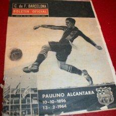 Coleccionismo deportivo: CLUB DE FUTBOL BARCELONA - BOLETIN OFICIAL - AÑO III - Nº 22 - FEBRERO 1964 - PAULINO ALCANTARA. Lote 26372448
