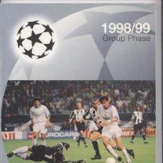 Coleccionismo deportivo: GUIA OFICIAL DE LA CHAMPIONS LEAGUE (1998/1999). Lote 26397396