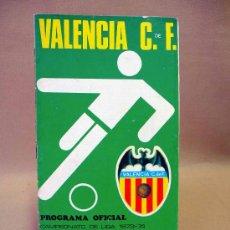 Coleccionismo deportivo: REVISTA, PROGRAMA OFICIAL, MALAGA, VALENCIA , 1973 - 1974. Lote 26519054