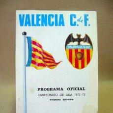 Coleccionismo deportivo: REVISTA, PROGRAMA OFICIAL, R.C.D. CORUÑA, VALENCIA , 1972 - 1973. Lote 26519165