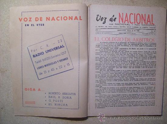 Coleccionismo deportivo: 1946 REVISTA VOZ DE NACIONAL, FUTBOL URUGUAY. MAGAZINE FOOTBALL N° 26 - WALTER GOMEZ - Foto 2 - 26515176