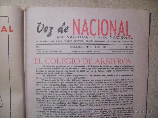 Coleccionismo deportivo: 1946 REVISTA VOZ DE NACIONAL, FUTBOL URUGUAY. MAGAZINE FOOTBALL N° 26 - WALTER GOMEZ - Foto 3 - 26515176