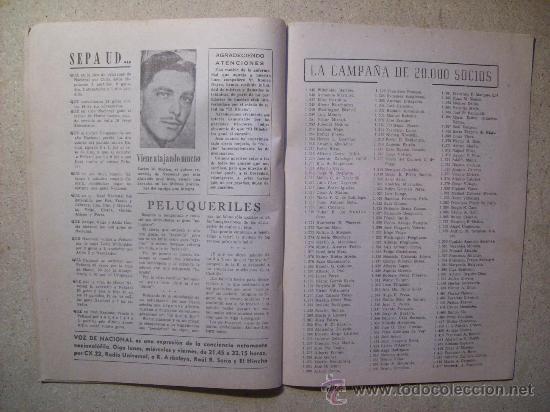 Coleccionismo deportivo: 1946 REVISTA VOZ DE NACIONAL, FUTBOL URUGUAY. MAGAZINE FOOTBALL N° 26 - WALTER GOMEZ - Foto 4 - 26515176