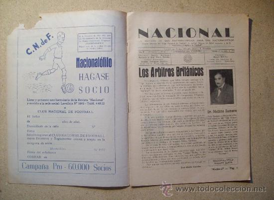 Coleccionismo deportivo: 1952 REVISTA CLUB NACIONAL DE FOOTBALL, FUTBOL URUGUAY. MAGAZINE N° 51 - WALDEMAR GONZALEZ - Foto 2 - 26575655