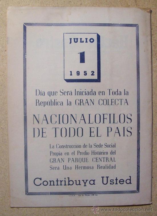 Coleccionismo deportivo: 1952 REVISTA CLUB NACIONAL DE FOOTBALL, FUTBOL URUGUAY. MAGAZINE N° 51 - WALDEMAR GONZALEZ - Foto 5 - 26575655