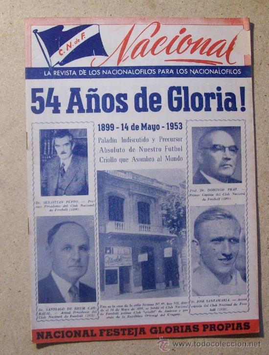 1953 REVISTA CLUB NACIONAL DE FOOTBALL, FUTBOL URUGUAY. MAGAZINE N° 95 SANTAMARIA (Coleccionismo Deportivo - Revistas y Periódicos - otros Fútbol)