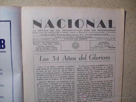 Coleccionismo deportivo: 1953 REVISTA CLUB NACIONAL DE FOOTBALL, FUTBOL URUGUAY. MAGAZINE N° 95 SANTAMARIA - Foto 3 - 26575761