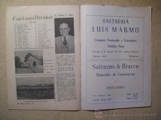 Coleccionismo deportivo: 1953 REVISTA CLUB NACIONAL DE FOOTBALL, FUTBOL URUGUAY. MAGAZINE N° 95 SANTAMARIA - Foto 5 - 26575761