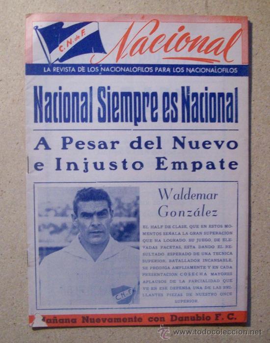 1953 REVISTA CLUB NACIONAL DE FOOTBALL, FUTBOL URUGUAY. MAGAZINE N° 120 - WALDEMAR GONZALEZ (Coleccionismo Deportivo - Revistas y Periódicos - otros Fútbol)
