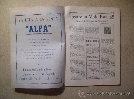 Coleccionismo deportivo: 1953 REVISTA CLUB NACIONAL DE FOOTBALL, FUTBOL URUGUAY. MAGAZINE N° 120 - WALDEMAR GONZALEZ - Foto 2 - 26625761