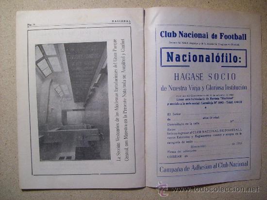 Coleccionismo deportivo: 1953 REVISTA CLUB NACIONAL DE FOOTBALL, FUTBOL URUGUAY. MAGAZINE N° 120 - WALDEMAR GONZALEZ - Foto 5 - 26625761