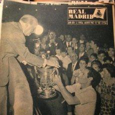 Coleccionismo deportivo: REVISTA REAL MADRID AGOSTO 1962 CAMPEON COPA GENERALISIMO. Lote 26755401
