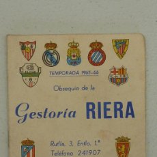 Coleccionismo deportivo: CALENDARIO DE FUTBOL DE LIGA 1965-66 DE PRIMERA DIVISION.. Lote 26851273