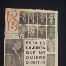 Coleccionismo deportivo: RB - REVISTA BARCELONISTA - Nº 113 - 30 MAYO 1967 - . Lote 27393400