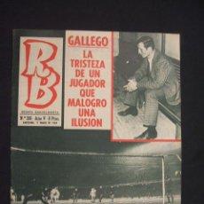 Coleccionismo deportivo: RB - REVISTA BARCELONISTA - Nº 206 - 11 MARZO 1969 - . Lote 27394146
