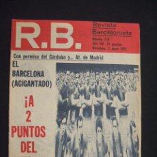 Coleccionismo deportivo: RB - REVISTA BARCELONISTA - Nº 370 - 2 MAYO 1972 - . Lote 27394292