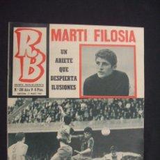 Coleccionismo deportivo: RB - REVISTA BARCELONISTA - Nº 208 - 25 MARZO 1969 - . Lote 27394356