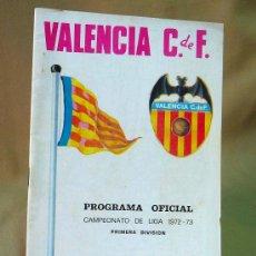 Coleccionismo deportivo: REVISTA, PROGRAMA OFICIAL, ATHLETIC CLUB BILBAO, VALENCIA, LIGA 72-73. Lote 28371005