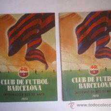 Coleccionismo deportivo: CLUB DE FUTBOL BARCELONA - 1954 - 2 REVISTAS . Lote 28032956