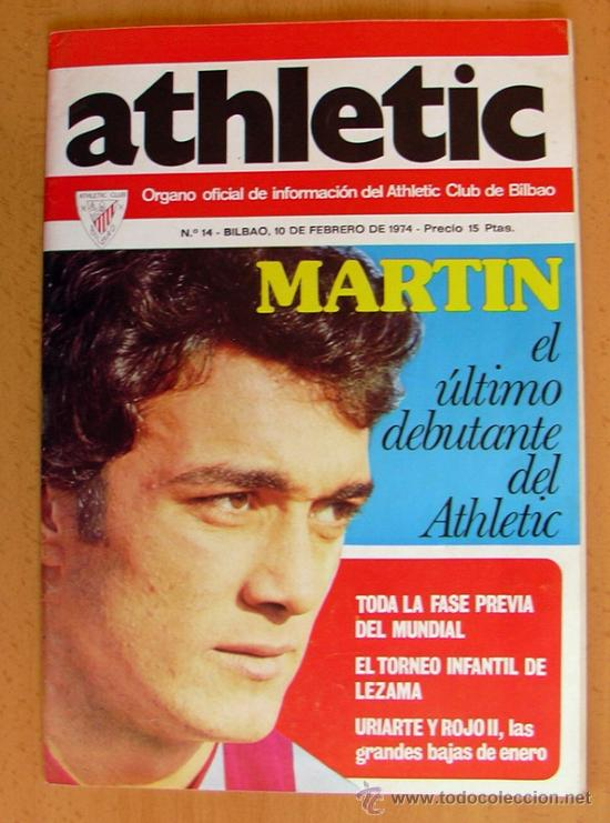Coleccionismo deportivo: ATHLETIC, nº 14 - Revista oficial del Athletic Club de Bilbao - Febrero de 1974 - Foto 1 - 28295450