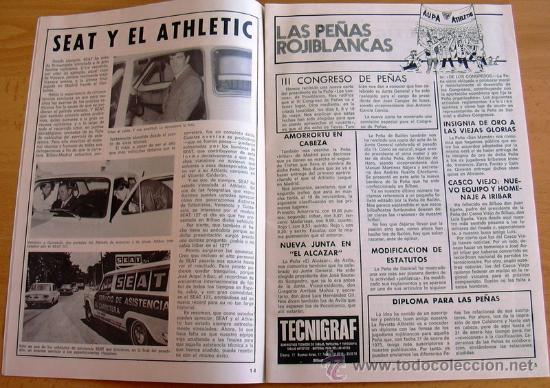 Coleccionismo deportivo: ATHLETIC, nº 24 - Revista oficial del Athletic Club de Bilbao - Diciembre de 1974 - Foto 2 - 28295693