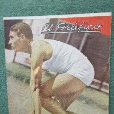 Coleccionismo deportivo: EL GRAFICO 861 , 11 ENERO 1936 REVISTA ARGENTINA DEPORTES EN GENERAL , FUTBOL,BOXEO,TENIS,COCHES ... Lote 28398483