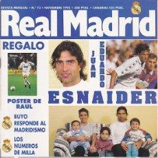 Coleccionismo deportivo: REVISTA REAL MADRID Nº 73. Lote 28502770