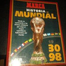Coleccionismo deportivo: FICHAS HISTORIA MUNDIAL FRANCIA 1998 98 MARCA COMPLETO. Lote 172183615