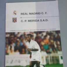 Coleccionismo deportivo: PROGRAMA OFICIAL REAL MADRID-MERIDA 97/98. Lote 28670068