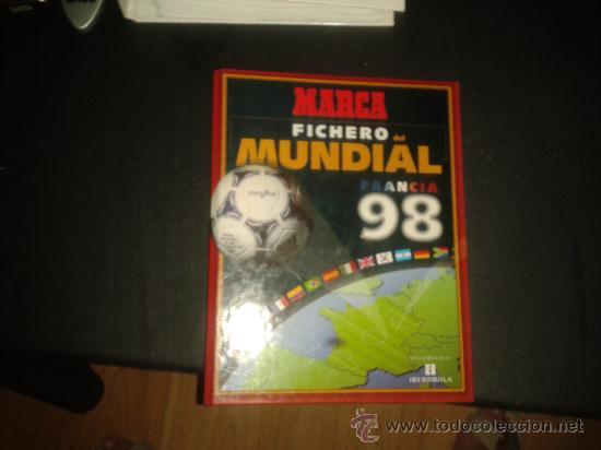 Coleccionismo deportivo: FICHAS HISTORIA MUNDIAL FRANCIA 1998 98 MARCA COMPLETO - Foto 2 - 172183615