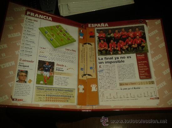 Coleccionismo deportivo: FICHAS HISTORIA MUNDIAL FRANCIA 1998 98 MARCA COMPLETO - Foto 3 - 172183615