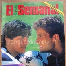 Coleccionismo deportivo: SUPLEMENTO SEMANAL 27 AGOSTO 1995 REYES DEL ÁREA, IVÁN ZAMORANO Y MEHO KODRO . Lote 28780603