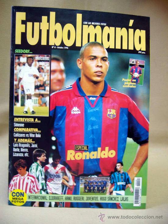 REVISTA, FUTBOLMANIA, Nº 6, ESPECIAL RONALDO,1996 (Coleccionismo Deportivo - Revistas y Periódicos - otros Fútbol)