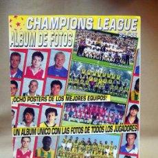 Coleccionismo deportivo: REVISTA, CHAMPIONS LEAGUE 95-96, ALBUM DE FOTOS, SIN LOS POSTERS. Lote 28919760