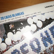 Coleccionismo deportivo: LIGAS BLANCAS,AUTOADHESIVAS,REAL MADRID. Lote 28942211