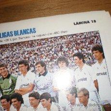 Coleccionismo deportivo: LIGAS BLANCAS,AUTOADHESIVAS,REAL MADRID. Lote 28942218