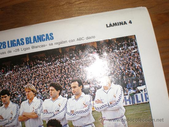LIGAS BLANCAS,AUTOADHESIVAS,REAL MADRID !!!! HAY MÁS !!!! (Coleccionismo Deportivo - Revistas y Periódicos - otros Fútbol)