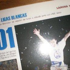 Coleccionismo deportivo: LIGAS BLANCAS,AUTOADHESIVAS,REAL MADRID. Lote 28942288