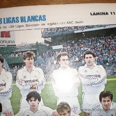 Coleccionismo deportivo: LIGAS BLANCAS,AUTOADHESIVAS,REAL MADRID. Lote 28942295