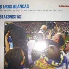Coleccionismo deportivo: LIGAS BLANCAS,AUTOADHESIVAS,REAL MADRID. Lote 28942451