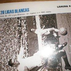 Coleccionismo deportivo: LIGAS BLANCAS,AUTOADHESIVAS,REAL MADRID. Lote 28942566