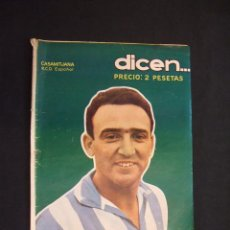 Coleccionismo deportivo: DICEN - Nº 206 - 29 SEPTIEMBRE 1956 - PORTADA: CASAMITJANA DEL R.C.D. ESPAÑOL - . Lote 29051266