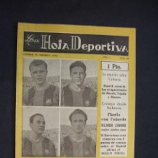 Coleccionismo deportivo: LA HOJA DEPORTIVA - Nº 22 - 12 FEBRERO 1954 - DI STEFANO SERA AZULGRANA. Lote 29131552