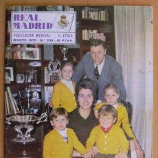 Coleccionismo deportivo: REAL MADRID - BOLETIN MENSUAL Nº 238 - MARZO 1970. Lote 29898561