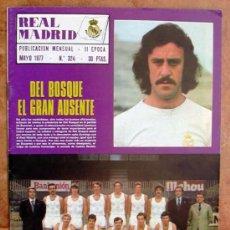 Coleccionismo deportivo: REAL MADRID - BOLETIN MENSUAL Nº 324 - MAYO 1977. Lote 29911061